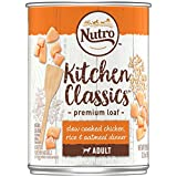 NUTRO Adult KITCHEN CLASSICS Slow Cooked Chicken, Rice & Oatmeal Dinner Premium Loaf Canned Dog Food 12.5 Ounces (Pack of 12)