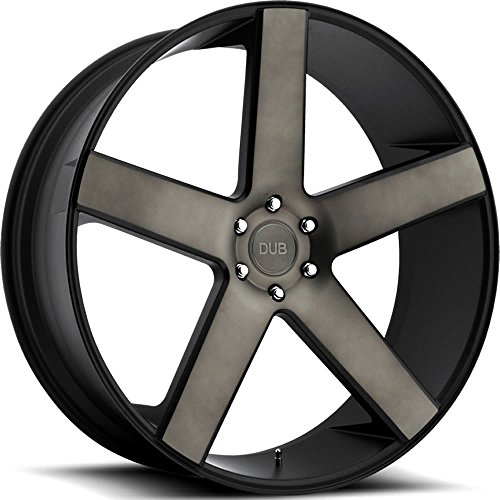 (DUB Baller 30 Black Flake Wheel / Rim 6x5.5 with a 30mm Offset and a 78.1 Hub Bore. Partnumber S116300077+30)