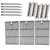 Master Forge 5 Burner 3218LT,3218LTN, L3218 Gas Grill Repair Kit Includes 5 Stainless Burners, 5 Heat Shields and Cast Cooking Grates