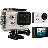 niceEshop(TM) 4K HD Wifi Action Camera 2.0 Inch 170 Degree Wide Angle Lens Action Camera WIFI 4k Waterproof Sports Action Camera (White)