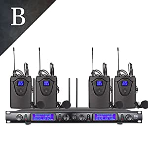 uhf xtuga ew240 4 channel wireless microphone system uhf wireless microphone system. Black Bedroom Furniture Sets. Home Design Ideas