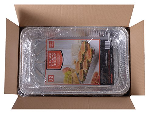 Daxwell Disposable Aluminum Steam Table Pan, Deep, Full Size (2 Packs of 25) by Daxwell (Image #1)
