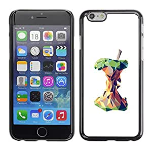For Apple iPhone 6 Plus(5.5 inches)Case , Polygon Art Deep White Meaning - Diseño Patrón Teléfono Caso Cubierta Case Bumper Duro Protección Case Cover Funda