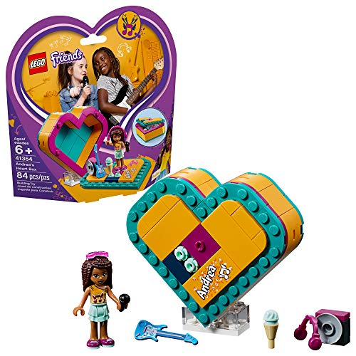 LEGO Friends Andrea's Heart Box 41354 Building Kit , New 2019 (84 Piece)