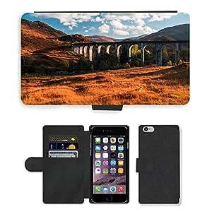 """CARD POCKET BOOK CASE PU LEATHER CASE // M00421617 Puente Paisaje Edificio de piedra // Apple iPhone 6 4.7"""""""