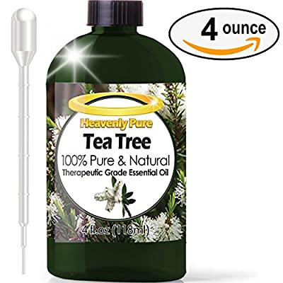 Tea Tree Essential Oil - HUGE 4 OZ / Dropper - 100% Pure Therapeutic Grade - Tea Tree Oil is Great for Aromatherapy, Acne, Hair Nourishment, Sinus & Allergies, Mosquito Repellent & More!
