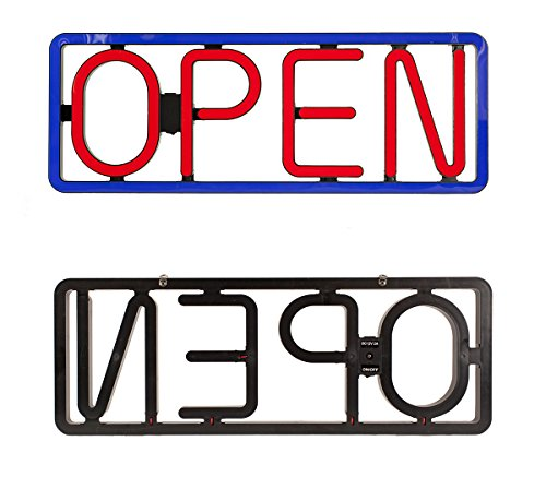 LED OPEN SIGNS NEON STYLES LARGE LETTER DISPLAY VIVID BRIGHT COLOR BIG RECTANGULAR FOR SHOP STORE BAR CAFE RESTAURANT BEER SALON BUSINESS97 LED