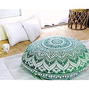 Popular Handicrafts Mandala Round Hippie Floor Pillow Cover | 100% Cotton Luxury, Artisan Room Décor for Your Living…