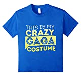 This Is My Crazy Gaga Costume Lazy Halloween T-Shirt