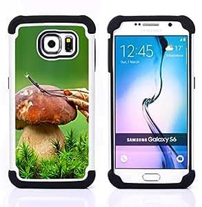 """Samsung Galaxy S6 / SM-G920 - 3 en 1 impreso colorido de Altas Prestaciones PC Funda chaqueta Negro cubierta gel silicona suave (Gran Seta"""")"""