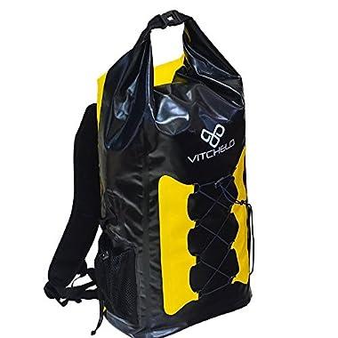 *New Release* 30L DELUXE Waterproof Dry Bag Backpack w/ Adjustable Shoulder Strap for Water Sports Beach Marine Kayaking Boating Rafting Fishing Hiking Snowboarding Camping - Premium Floating Dry Sack