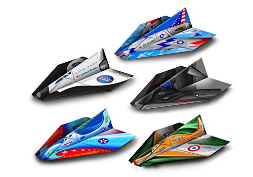 [Paper Wings Pre-Made Paper Airplanes, 20 Pack, 5 Different Colorful Designs For Folds of Fun, Pre-Folded, Indoor & Outdoor Fun For Kids] (Air Force Birthday)