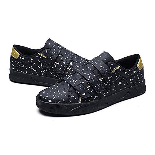 Para De Resistente Negro Zapato Sunny La amp;baby Color Sólido Abrasión Hombre Tacón A Plano En CqS8At8w