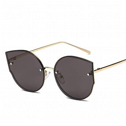 Fusanadarn Gafas de Sol Unisex con Montura metálica de Ojo ...
