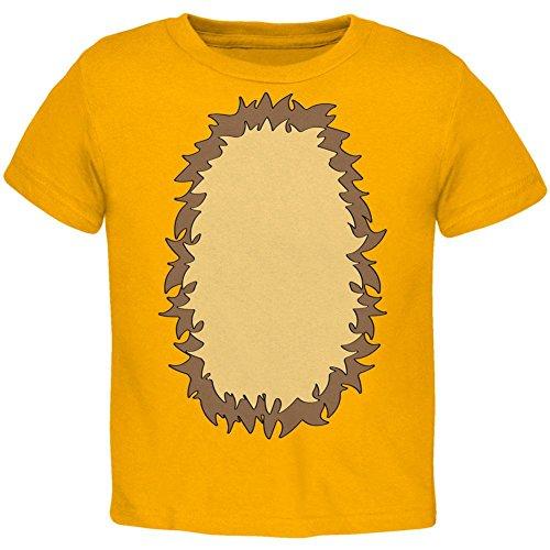 Halloween Lion Costume Toddler T Shirt Gold 2T ()