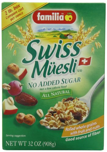 Best familia muesli no added sugar list