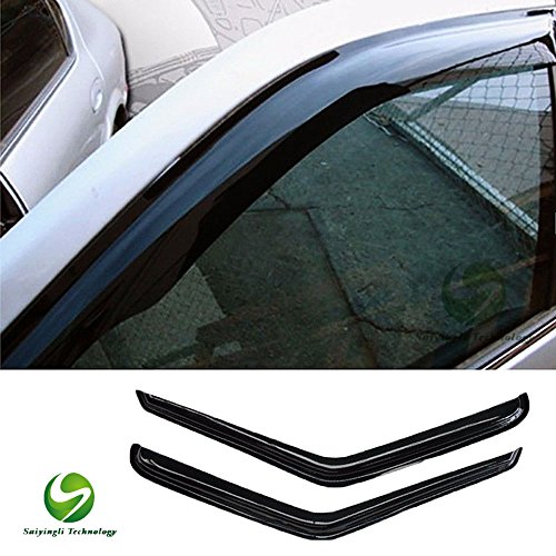 SYL 2pcs Front Smoke Sun Rain Guard,for 94-04 Chevy S10 Pickup 95-05 Blazer 2-Door SUV 94-04 GMC Sonoma Pickup 95-01 S15 Jimmy 2-Door SUV 9 Vent Shade Window Visors