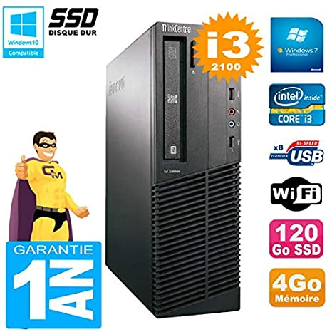 Lenovo Pc M91p 7005 SFF Core i3 - 2100 4 GB Disco 120 GB SSD ...
