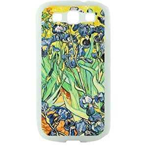 Vincent van Gogh oil painting Irises Samsung Galaxy S3 SIII I9300 TPU Soft Black or White case (White)