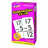 TREND ENTERPRISES INC. FLASH CARDS SUBTRACTION 13-18 99BOX (Set of 12)