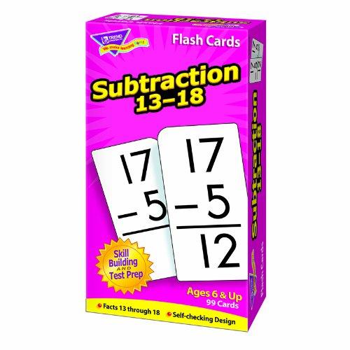 TREND ENTERPRISES INC. FLASH CARDS SUBTRACTION 13-18 99BOX (Set of 12)