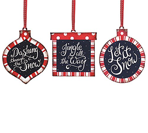 Let it Snow Ornament - Set of