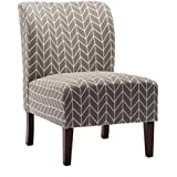 Accent Chair Armless Living Room Bedroom Office Contemporary Style (Gray)