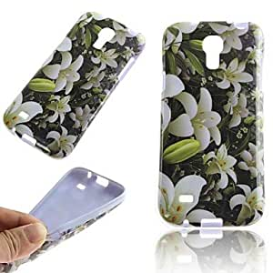 HJZ Lily Pattern TPU Back Cover Case for Samsung Galaxy S4 Mini I9190
