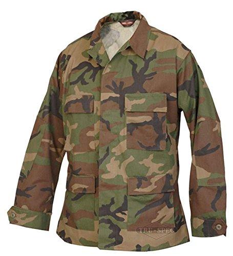 Tactical Shirt Woodland Camo - Tru-Spec BDU Coat CP Twill Woodland L-Long 1822025