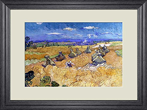 Creative 3D Visual Effect Wall Mural Wheat Fields with Reaper Auvers by Vincent van Gogh Peel Stick Wall Decor