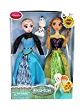 Tickles Multi Frozen Sister Ana and Elsha Doll Girl 28 cm ( Dress and its color worn by dolls may vary )