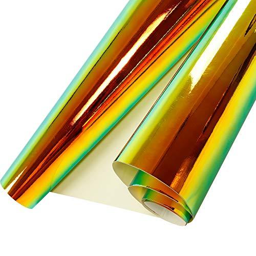 HOHO Holographic Rainbow Neo Chrome Car Vinyl Wrap Bubble Free Sticker Film 54