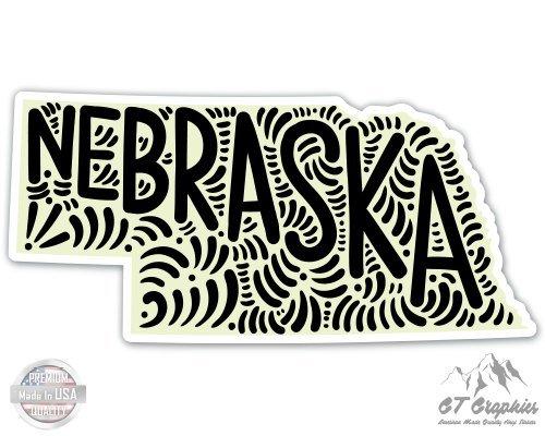 Nebraska Graphic - Nebraska Shape Cute Letters Native Local - 3