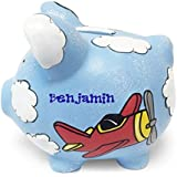 Personalized Little Aviator Airplane Piggy Bank (Aviator Airplane)
