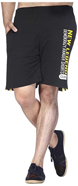 Demokrazy Men's Regular Fit Shorts Men's Shorts at amazon