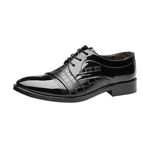 promo code 1c104 f85ac Sunnywill Chaussures en Cuir Classiques Modernes pour Hommes, Chaussures  d affaires, Chaussures en