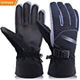 Winter Ski Gloves for Men and Women, OKELAY Cold Weather Gloves Coldproof Work Glove with Thermal 3M Thinsulate Insulation Cotton - Waterproof and Windproof for Skiing/Snowmobile/Shoveling Snow