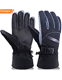 Winter Cold Weather Gloves for Men and Women, OKELAY Ski Gloves Coldproof Work Glove with Thermal 3M Thinsulate Insulation Cotton - Waterproof and Windproof for Skiing/Snowmobile / Shoveling Snow