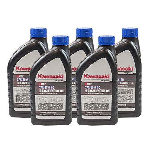 Pack of 5 Kawasaki 99969-6298 Genuine OEM K-Tech SAE 20W-50 4-Cycle Engine - Oil Kawasaki