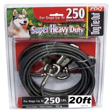 Boss Pet Q6820 000 99 20' Extra Extra Large Dog Pdq Cable Tie Out by Boss Pet Products