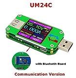 AiLi UM24C USB 2.0 Power Meter Tester USB Multimeter Color LCD Display Voltage