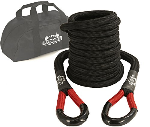 Best Buy! 20'x7/8 Kinetic Recovery & Tow Rope, Black (28,600 lbs) for 4x4/Off-Roading/Jeep/Car/SUV/...