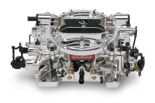 Edelbrock 180549 Thunder Series AVS Carburetor; Reconditioned; 650cfm; Sq. Flange; Manual Choke; w/o EGR; Incl. Metering Jets/Metering Rods/Step Up Spring; EnduraShine Finish; (Edelbrock Carburetor Endurashine)
