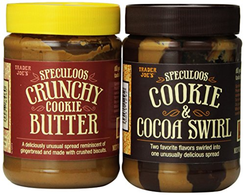 Variety Pack - Trader Joe's Speculoos Cookie Butter (1 Crunchy and 1 Cocoa Swirl) - Total of 2 ()