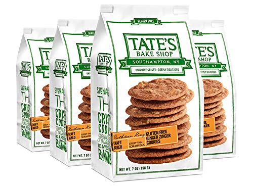 Tate's Bake Shop Thin & Crispy Cookies, Gluten Free Ginger Zinger, 7 Ounce, 4 - Ginger Thins
