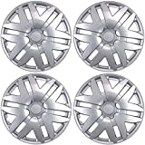 BDK KT-997-16_AMZKING Silver Hubcaps Wheel Covers for Toyota Sienna (16 inch) - Four (4) Pieces Corrosion-Free & Sturdy - Full Heat & Impact Resistant Grade - OEM Replacement, 4 Pack