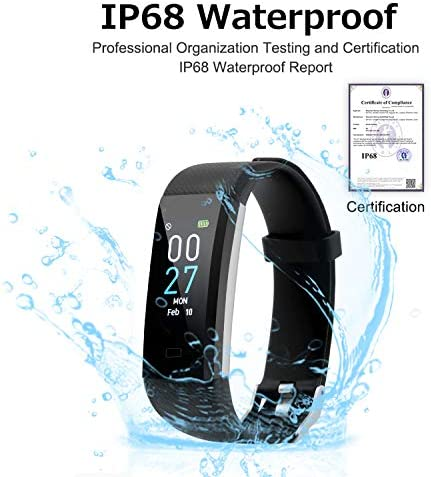 Fitness Tracker with Blood Pressure Heart Rate Sleep Monitor Temperature Monitor, Activity Tracker Smart Watch Pedometer Step Counter for iPhone & Android Phones for Kids Man Women 5