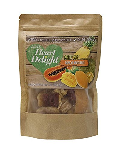 Heart Delight Dried Soft Tasty Tropical Mixed Fruit Kosher Certified 280 gr. - 9.8 oz. by Heart DeLight