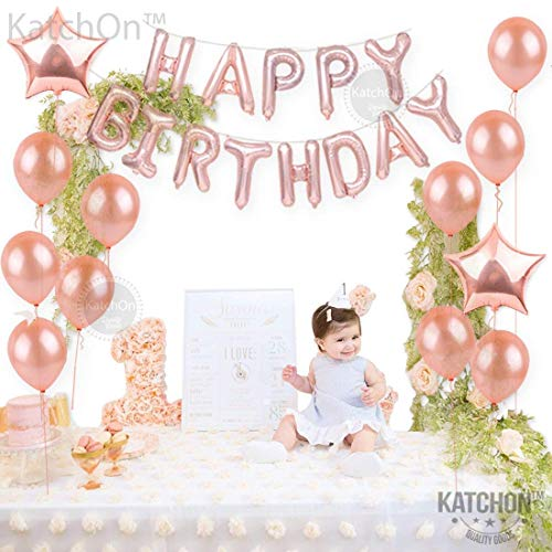30th Birthday Decorations Rose Gold AEUR 30 And Happy Balloons Banner Great