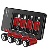 EaseBuy 8-Pack CR123A Rechargeable Lithium ion Camera Batteries with RCR123A Charger Compatible Arlo (VMC3030/3200/3330/3430/3530) Security Cameras